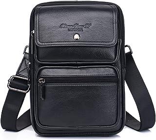 Bolso bandolera de cuero vintage para hombre, mochila cruzada para hombre, mochila bandolera, bolso de pecho, mochila de d...