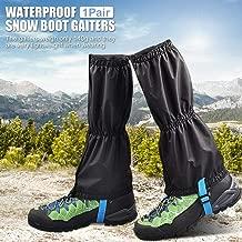 Escalade Maxtapos Protection de jambi/ère imperm/éable pour Chaussures de randonn/ée Sable et Neige Bleu XL M Orange