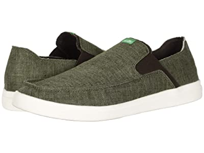 Sanuk Pick Pocket Slip-On Hemp (Olive) Men