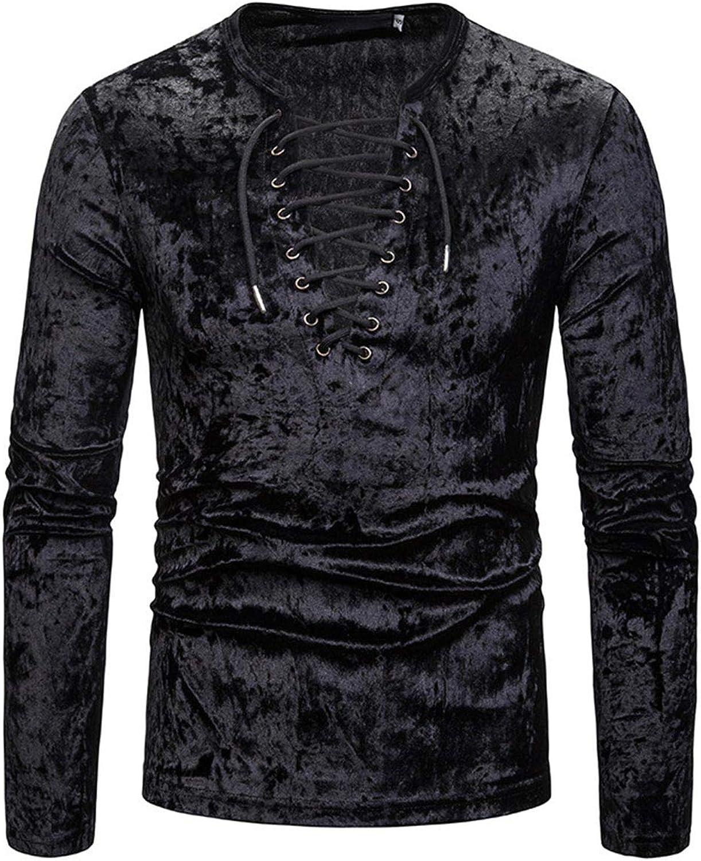 Camisa Negra De Los Hombres Correa Profunda con Cuello ...
