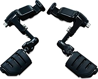 Kuryakyn 3990 Motorcycle Foot Control: Ergo III Cruise Mounts with Trident Dually ISO Pegs for 2001-17 Honda Gold Wing GL1800, F6B, and Valkyrie Motorcycles, Gloss Black