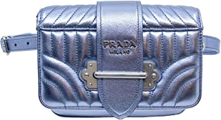 Belt Cahier Fanny Pack Metallic Silver Leather Cross Body Bag