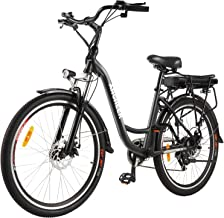 """ANCHEER 26"""" Electric Bike, City E-bike Cruiser with Removable 12.5Ah Battery Integrated in Rear Frame 30 Miles Range Dual ..."""