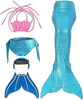 Cola de Sirena para Niñas con Aleta para Natación y Cosplay