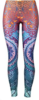 Mosszra Women Multiple Digital Print Cool Design Stretchy Tights Pants Leggings