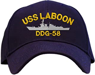 USS Laboon DDG-58 Embroidered Baseball Cap - Navy Blue