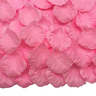 JEMONG 4000 Pieces Silk Rose Petals Non-Woven Artificial Flower Petals for Wedding Confetti Flower Girl Bridal Shower Hotel Home Party Valentine Day Flower Decoration(Pink)
