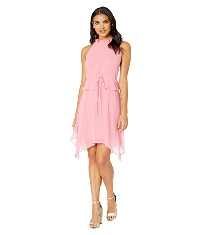 Sam Edelman Halter Hanky Hem Dress (Watermelon Punch) Women