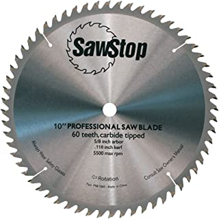 SawStop CB104 184 60-Tooth Combination Table Saw Blade, 10