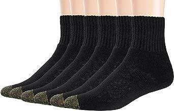 Areke Men's Premium Comfort Cotton Cushion Rib Quarter Socks for Sports Athletic Ankle Soxs