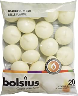 Bolsius Floating Candle, Ivory, Wax, 30 x 45 mm