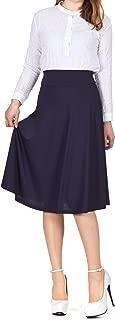 Best navy mid length skirt Reviews