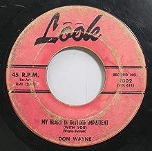 Don Wayne 45 RPM My Heart Is Getting Impatient / Poor Little Jimmy