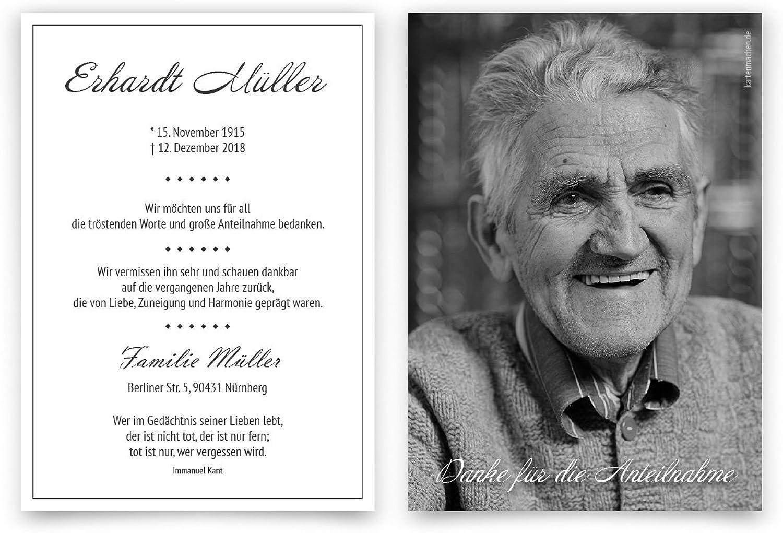 30 x Trauer Dankeskarten Danksagung Danksagungskarten Trauerkarten individuell - begleitende begleitende begleitende Erinnerung B07BHNTFVM   Ästhetisches Aussehen  baf80f