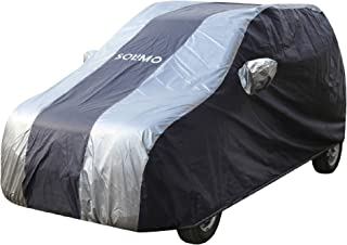 Amazon Brand - Solimo Maruti WagonR Water Resistant Car Cover (Dark Blue & Silver)