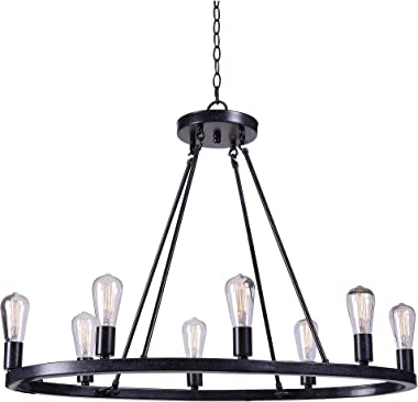 Kenroy Home 93566FGRPH Hixon Island Lights, 22 to 29 Inch Height, 34.5 Inch Width, 20.5 Inch Width, Forged Graphite