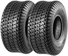 MaxAuto 15x6.00-6 15x6x6 15-6-6 Turf Tires for John Deere Tractor Riding Mover Lawn & Garden Tire, 4PR, Set of 2
