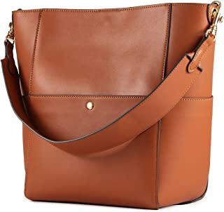 Hobo Bags for Women, Leather Tote Purses and Handbags Work Bucket Bag