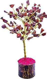 YATHABI Red Jasper Gemstone Beads Tree Feng Shui Bonsai for Crystal Energy Generator Chakra Balancing Reiki Healing EMF Protection Spiritual Meditation Luck Money Home Decor Size: 7-8 Inch