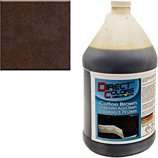 Concrete Acid Stain, Professional Grade Concrete Etching, Cement Stain 1 Gallon, Coffee Brown - Direct Colors