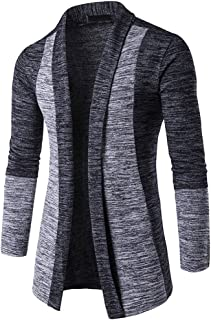 ZEFOTIM Men's Autumn Winter Sweater Cardigan Knit Knitwear Coat Jacket Sweatshirt