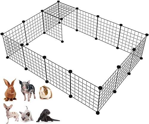 LANGXUN Organisateur de Cubes de Stockage de Fil de métal | Clôture Mobile de Yard de Fil en métal de Produits d'anim...