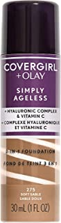 Covergirl & Olay Simply Ageless 3-in-1 Liquid Foundation, Soft Sable