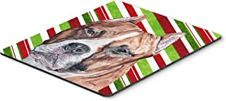 Caroline's Treasures Staffordshire Bull Terrier Staffie Candy Cane Christmas Mouse Pad/Trivet (SC9800MP)