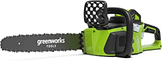"Greenworks 20077 40V Cordless and Brushless Chainsaw Skin, 40cm (16"")"