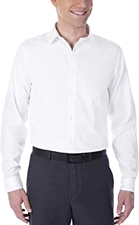 Calvin Klein Custom Men's Dress Shirt Non Iron Solid (Available in Regular, Slim, Extra Slim, and Big and Tall Fits)