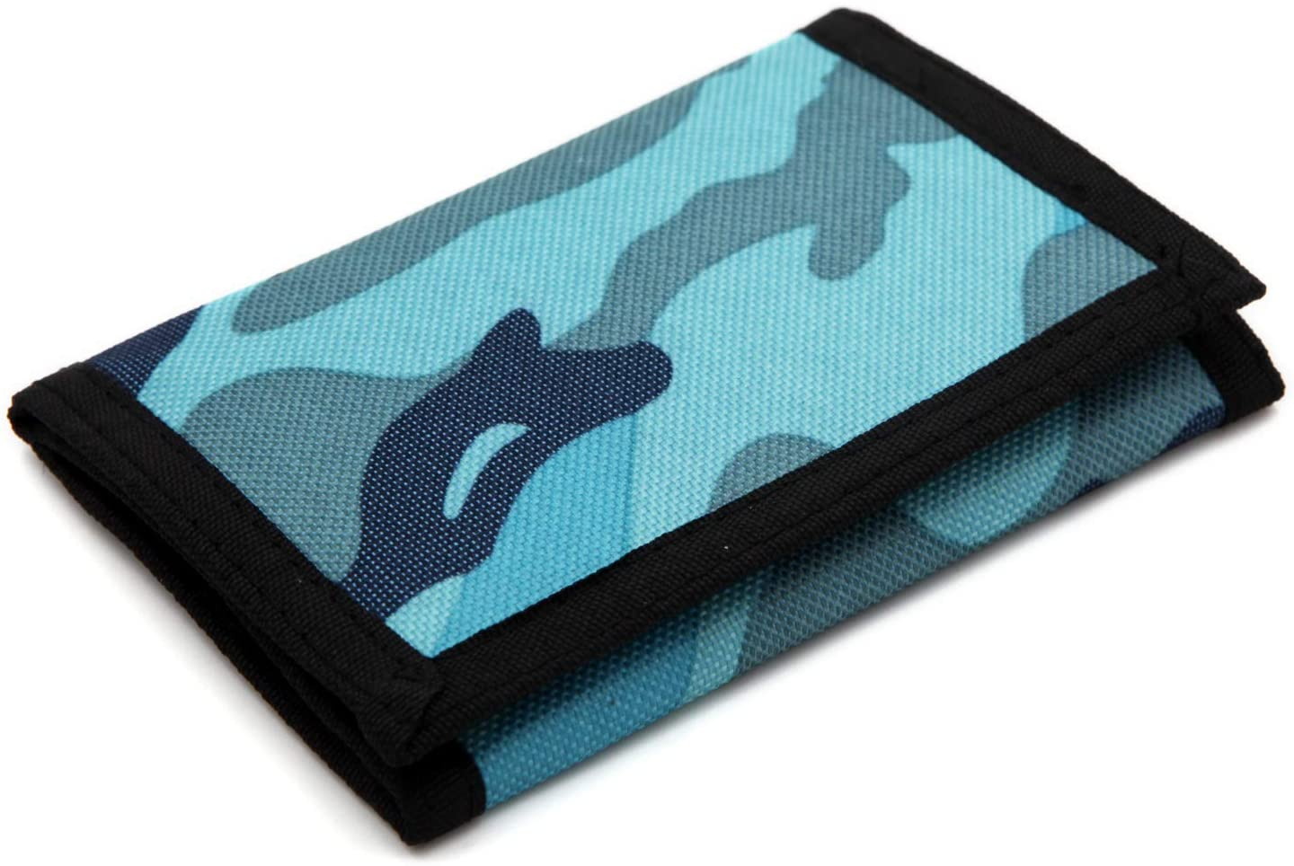 Excellent RFID Trifold Canvas Camouflage Wallet for Mini Men wi Purse Coin Attention brand