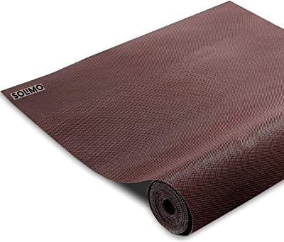 Amazon Brand - Solimo PVC Anti Slip Lining Mat for Drawer, Refrigerator, Cupboard, Shelf and Table, 500 x 45 cm, Brown