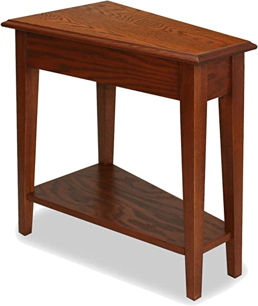 Leick Recliner Wedge End Table Medium Oak