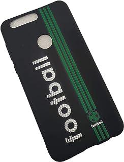 غطاء هواوي هونور 8 عصري، غطاء نحيف للغاية من مادة البولي يوريثين السيليكونية الناعمة مطبوع عليه كرة قدم ثلاثية الابعاد - اخضر