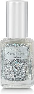 Karma Organic Natural Nail Polish-Non-Toxic Nail Art, Vegan and Cruelty-Free Nail Paint (Glitter Bomb)