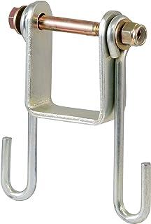 CURT 45806 Trailer Safety Chain Holder Bracket for 2-inch Shank, Bolt-On Steel Hanger Hooks