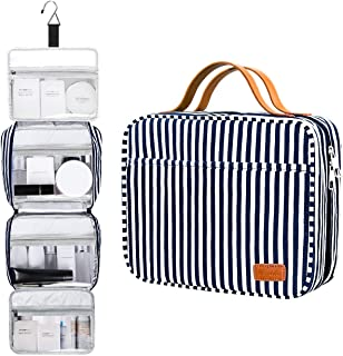 Hanging Travel Toiletry Bag,Large Capacity Cosmetic Travel Toiletry Organizer for Women with 4 Compartments & 1 Sturdy Hook,Perfect for Travel/Daily Use/Birthday Gift