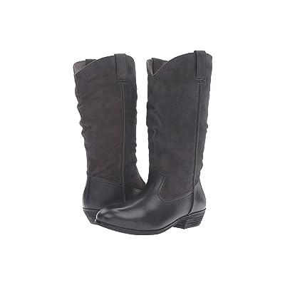 SoftWalk Rock Creek Wide Calf (Dark Grey Smooth Leather/Cow Suede) Women