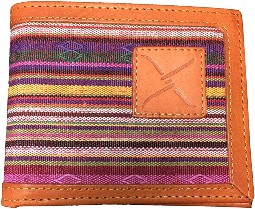 Twisted X Tapestry Pattern Leather Bifold Wallet