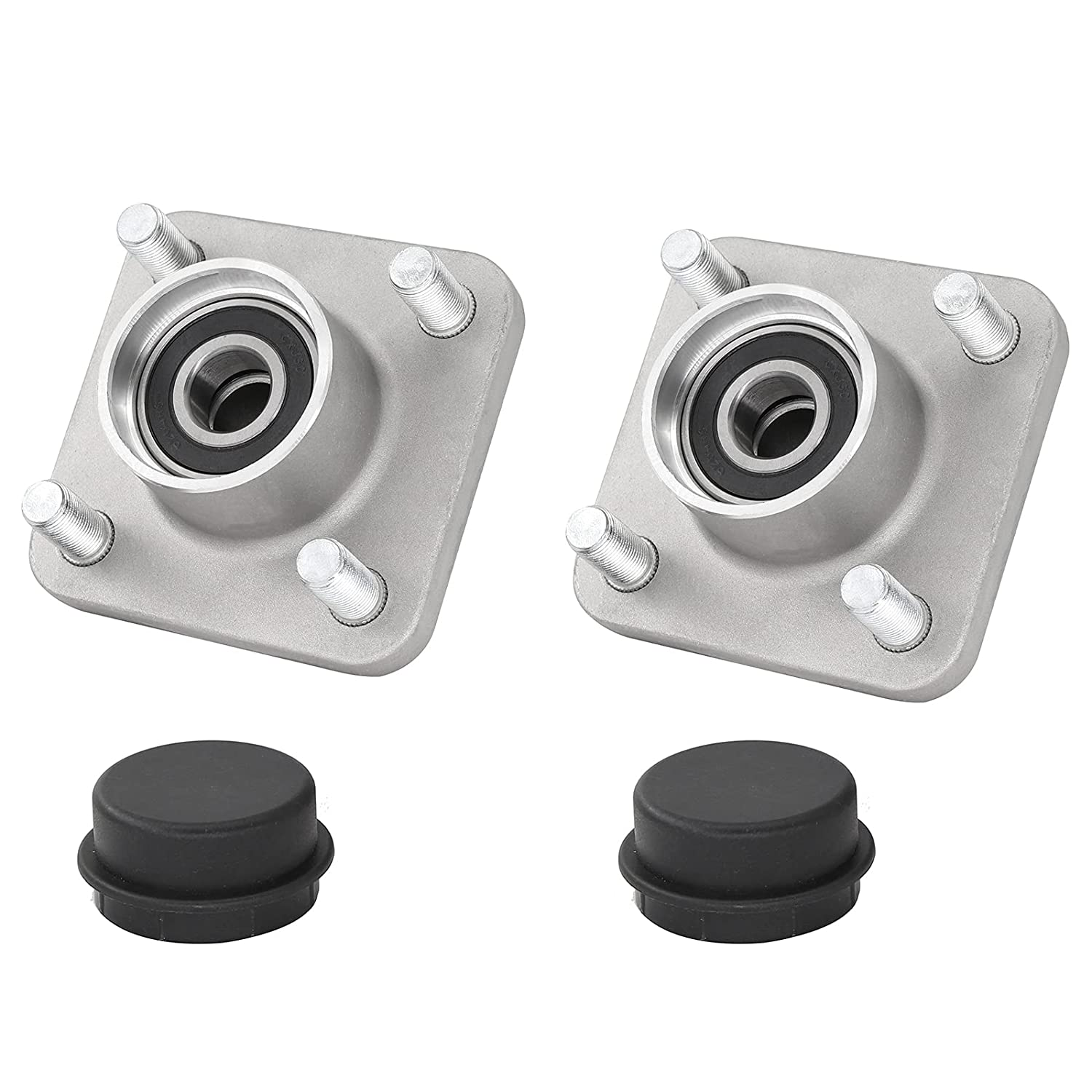 2Pcs Golf Cart Front Wheel Hub Max Cheap mail order specialty store 52% OFF Bearings for Assembly 2003+ Clu W