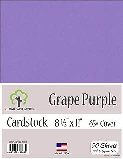 Grape Purple Cardstock - 8.5 x 11 inch - 65Lb Cover - 50 Sheets