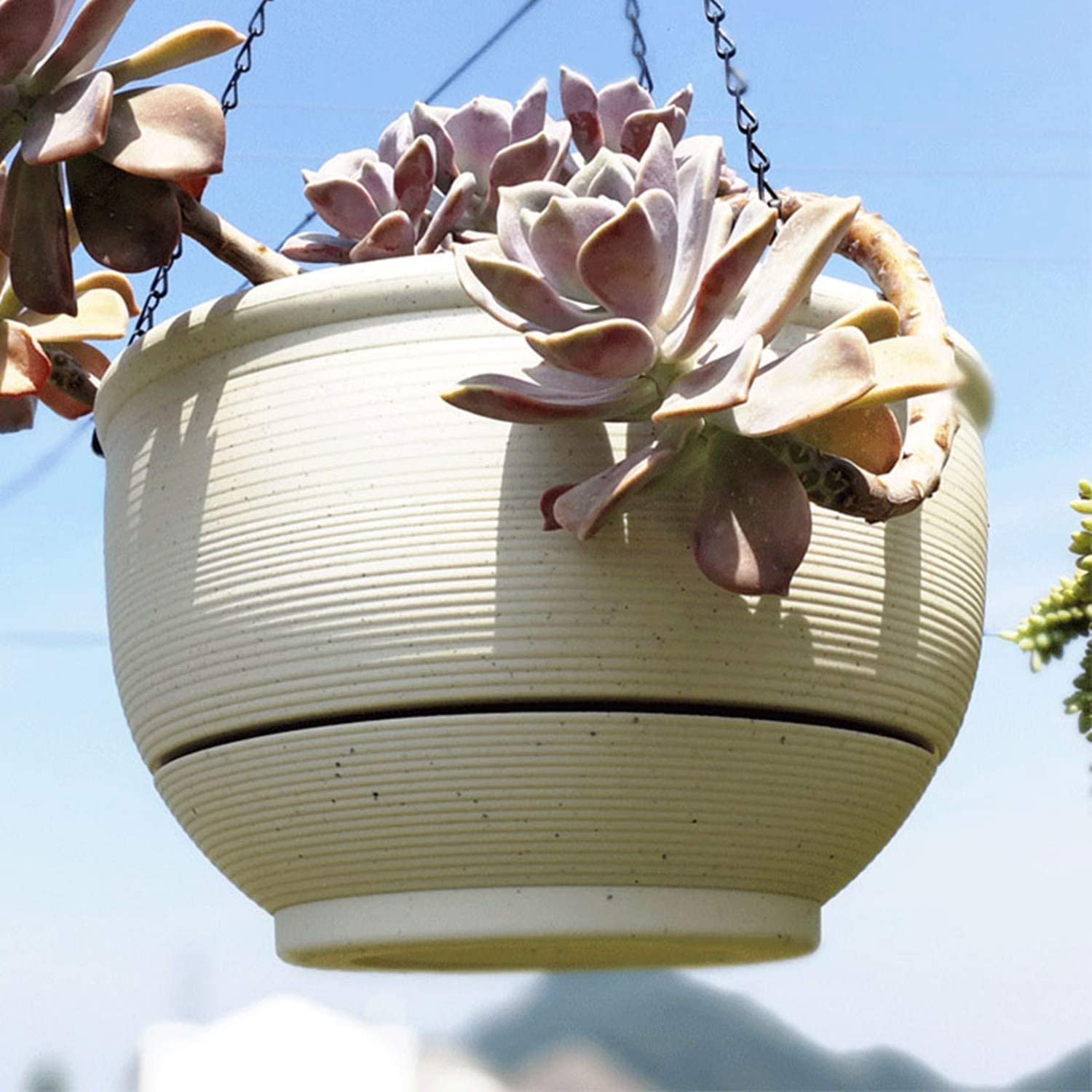 Homeleaf 2 safety Pack Bombing new work Plastic Hanging with Basket Detachable Planter B