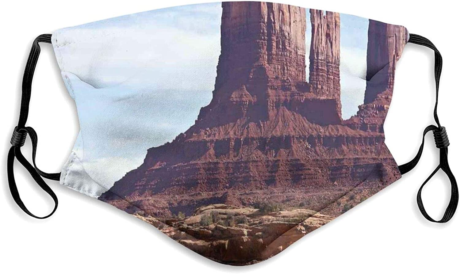 Fillter Cloth For adult and kids,Famous Monument Valley Grand Canyon Red Rocky Cliffs Usa Arizona Print,Reusable Windproof Cloth Half Face Double Protection