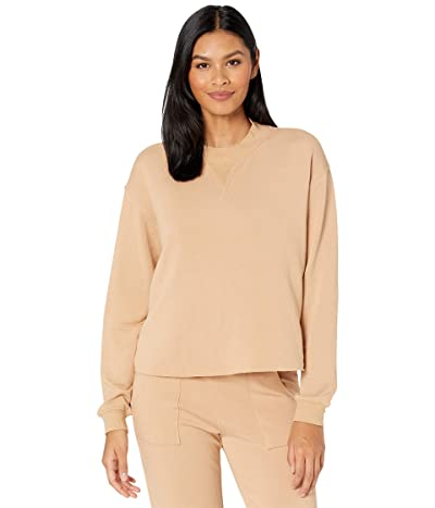YEAR OF OURS Mock Neck Sweatshirt (Tan) Women