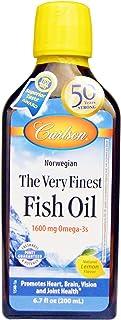 最高級フィッシュオイル ナチュラルレモンフレーバー 200ml(6.7floz) Carlson Labs(カールソンラボ)[海外直送品]