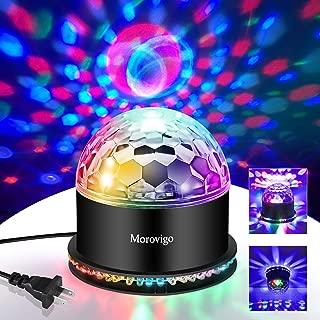 Sound Activated DJ Disco Lights Party Lights Dj Lighting, RBG Disco Ball, Strobe Lamp Stage Par Light for Home Room Dance Parties Birthday DJ Bar Karaoke Xmas Wedding Show Club Pub