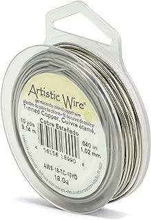 Beadalon Artistic, 18 Gauge, Tinned Copper, 10 yd (9.1 m) Craft Wire