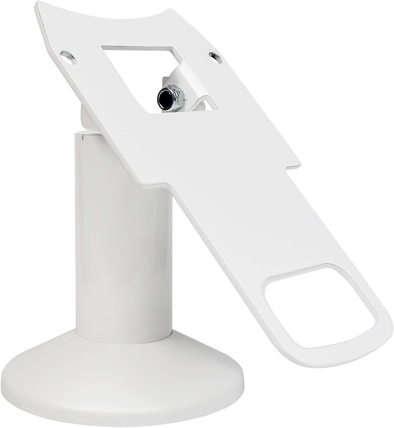 DCCStands Swivel and Tilt Clover Mini Terminal Stand - Low Profile, White
