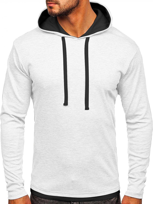 Men Lightweight Hoodies Jacket Pullover Tops Casual Muscle Hoodied Sweatshirt Long Sleeve Jacket Outwear