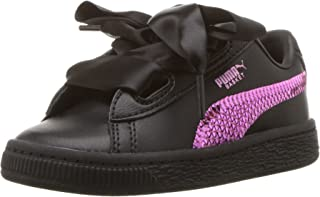 PUMA Kids' Basket Heart Bling Sneaker